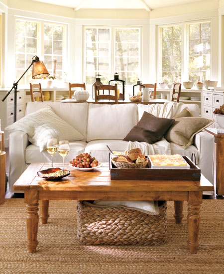 Romantic living room inspiration innerpacific for Pottery barn style living room ideas